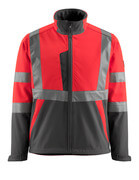 15902-253-22218 Softshell Jacket - hi-vis red/dark anthracite