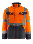 15935-126-14010 Winter Jacket - hi-vis orange/dark navy