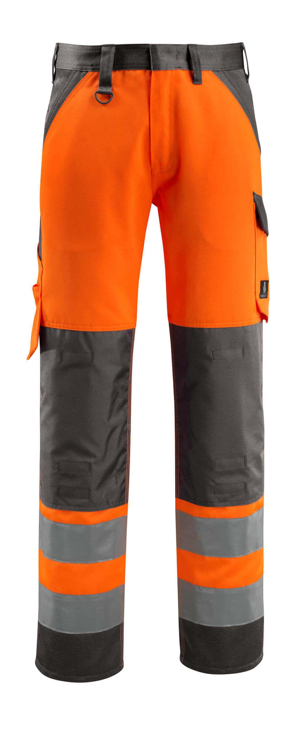 15979-948-1418 Pants with kneepad pockets - hi-vis orange/dark anthracite