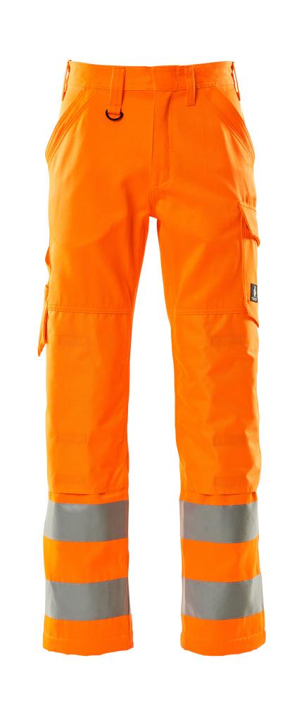 16879-860-14 Pants with kneepad pockets - hi-vis orange