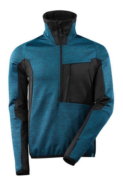 Fleece Jumper with half zip, modern fit