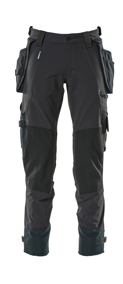 17031-311-010 Pants with kneepad pockets and holster pockets - dark navy