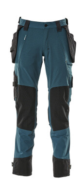 17031-311-010 Trousers with kneepad pockets and holster pockets - dark navy