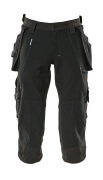 17049-311-09 ¾ Length Pants with kneepad pockets and holster pockets - black