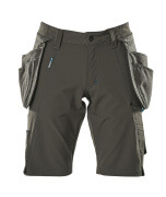 17149-311-18 Shorts with holster pockets - dark anthracite