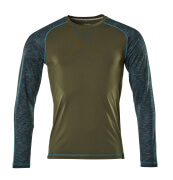 17281-944-33 T-shirt, long-sleeved - moss green