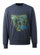 17284-280-66 Sweatshirt - washed dark blue denim