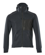 17384-319-01009 Hoodie with zipper - dark navy/black
