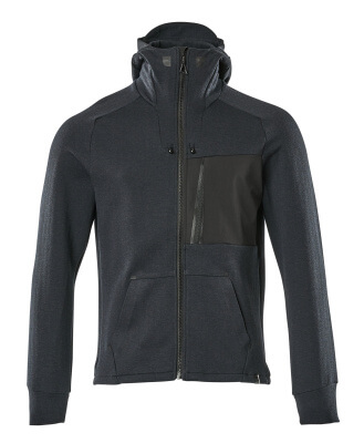 Hoodie with zipper, modern fit