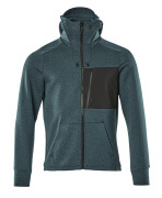 17384-319-4409 Hoodie with zipper - dark petroleum/black