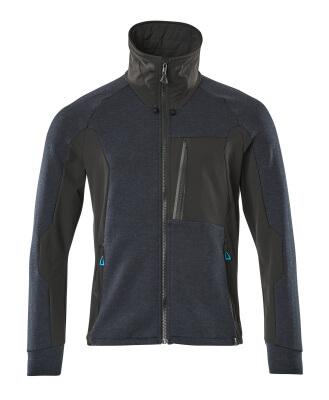 Sweatshirt with zip, high collar