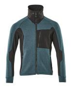 17484-319-4409 Sweatshirt with zipper - dark petroleum/black