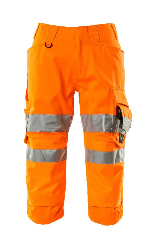 17549-860-14 ¾ Length Pants with kneepad pockets - hi-vis orange