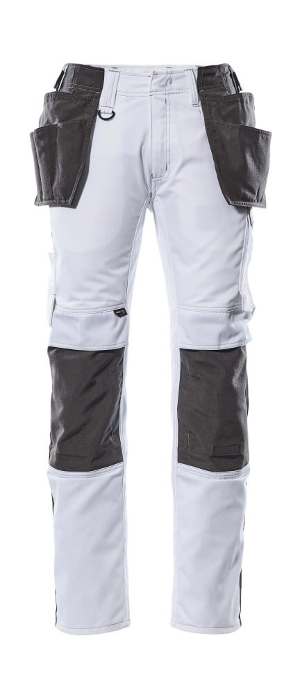 17631-442-0618 Pants with holster pockets - white/dark anthracite