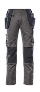 17631-442-0618 Pants with kneepad pockets and holster pockets - white/dark anthracite