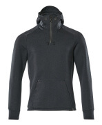 17684-319-01009 Hoodie with half zip - dark navy/black