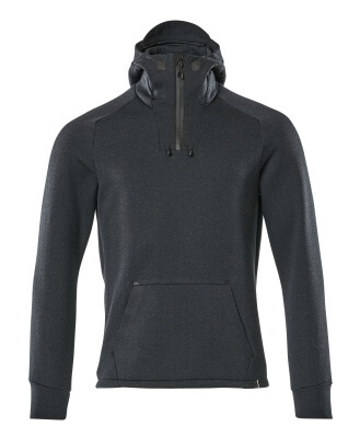 Hoodie with half zip, modern fit