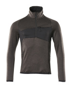 18003-316-1809 Fleece Jumper with half zip - dark anthracite/black