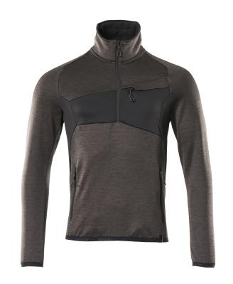 Fleece jumper with half zip