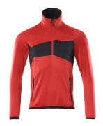 18003-316-20209 Fleece Jumper with half zip - traffic red/black