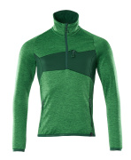 18003-316-33303 Fleece Jumper with half zip - grass green/green