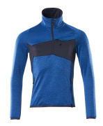 18003-316-91010 Fleece Jumper with half zip - azure blue/dark navy