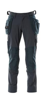 18031-311-010 Pants with kneepad pockets and holster pockets - dark navy