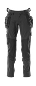 18031-311-09 Pants with kneepad pockets and holster pockets - black