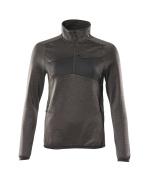 18053-316-1809 Fleece Jumper with half zip - dark anthracite/black