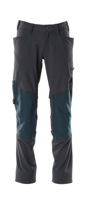 18079-511-010 Pants with kneepad pockets - dark navy