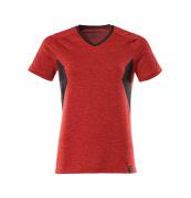 18092-801-20209 T-shirt - traffic red-flecked/black