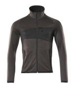 18103-316-1809 Fleece Jumper with zipper - dark anthracite/black