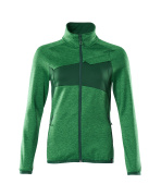 18153-316-33303 Fleece Jumper with zipper - grass green/green