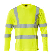 18281-995-17 T-shirt, long-sleeved - hi-vis yellow