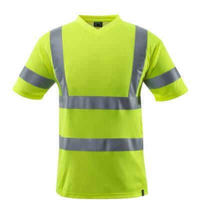 Mascot T-Shirt,V-Ausschnitt,Kla hi-visgelb