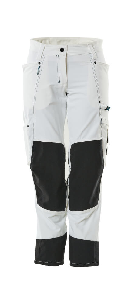 18378-311-06 Pants with kneepad pockets - white