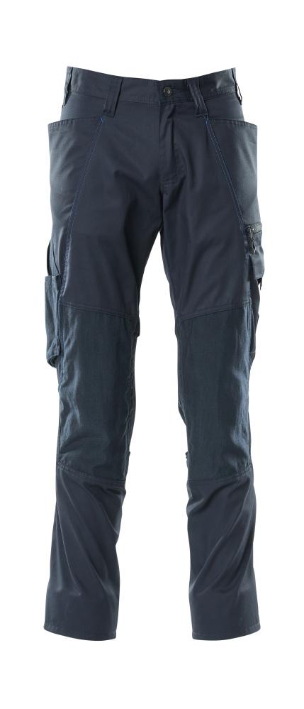 18379-230-010 Pants with kneepad pockets - dark navy