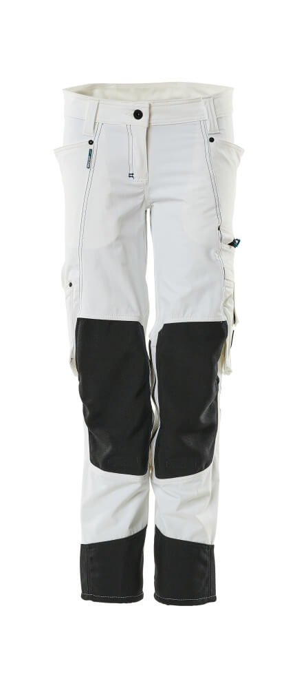 18388-311-06 Pants with kneepad pockets - white