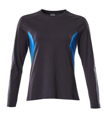 18391-959-01091 T-shirt, long-sleeved - dark navy/azure blue