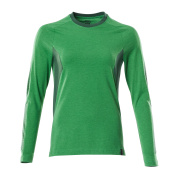 18391-959-33303 T-shirt, long-sleeved - grass green/green