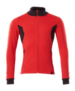 18484-962-20209 Sweatshirt with zipper - traffic red/black