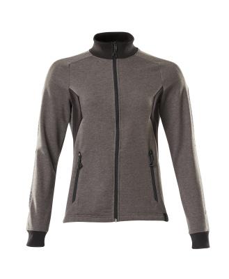 Sweatshirt with zipper, ladies fit