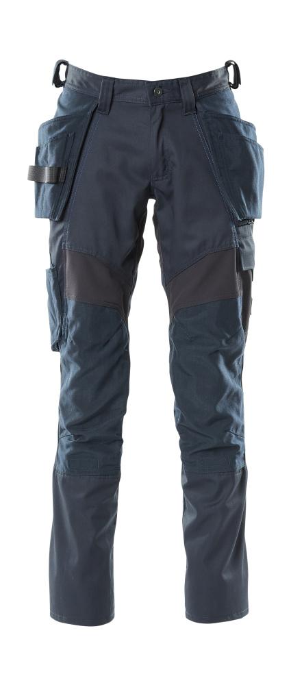 18531-442-010 Pants with kneepad pockets and holster pockets - dark navy
