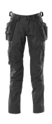 18531-442-09 Pants with kneepad pockets and holster pockets - black