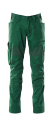 18579-442-03 Pants with kneepad pockets - green