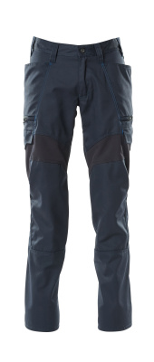 18679-442-010 Pants with thigh pockets - dark navy