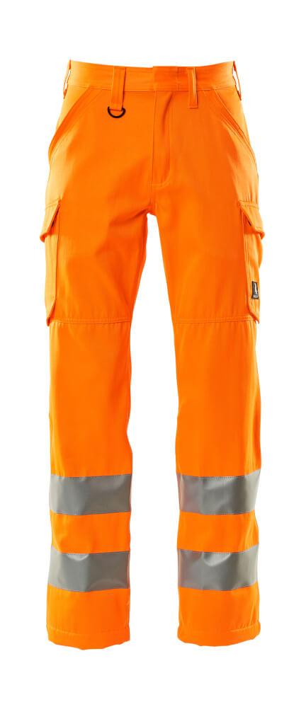 18879-860-14 Pants with thigh pockets - hi-vis orange