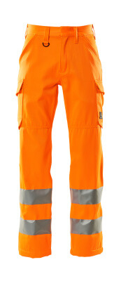 18879-860-14 Pants with thigh pockets - hi-vis orange
