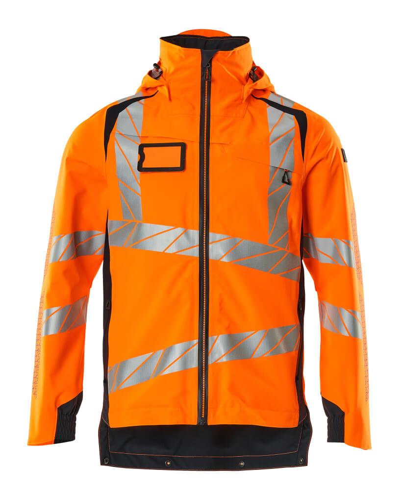 19001-449-14010 Outer Shell Jacket - hi-vis orange/dark navy