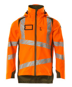 19001-449-1433 Outer Shell Jacket - hi-vis orange/moss green